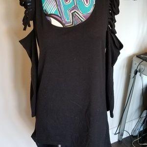 Dresses & Skirts - Black Dress size Med. Cotton flowing short long